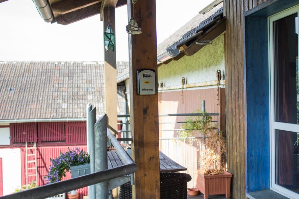 Schlüsseltresor linke Wohnung | Ferienwohnung Sonnenhof Weidenhausen